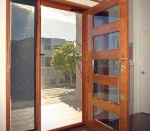 SecureView Stainless Steel Hinged Security Door