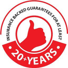 A 20 year guarantee logo