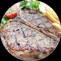 carne alla griglia con patate al forno