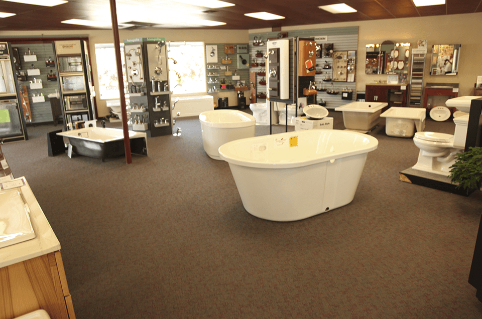 Aurora Plumbing showroom in Seattle, WA