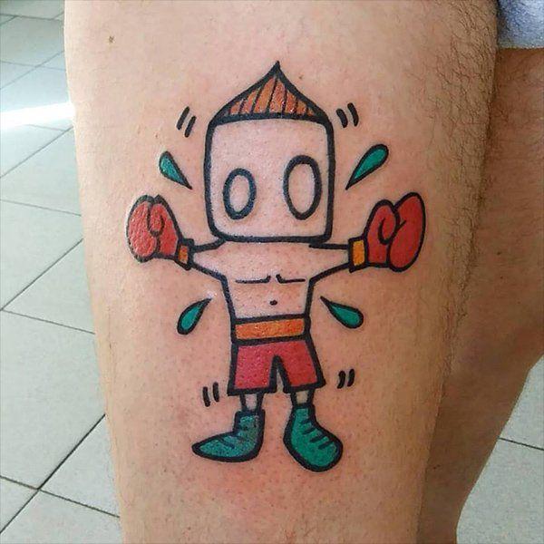 tatuaggio di un pugile