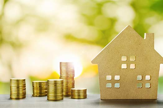 Savings Plans for Housing,Finance and Banking about House concept