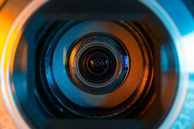 Primo piano di un obiettivo macchina fotografica