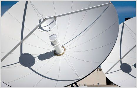 commercial satellite dish installation
