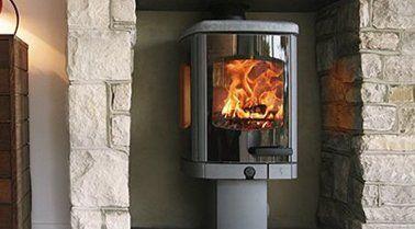 Wood burning stove installer