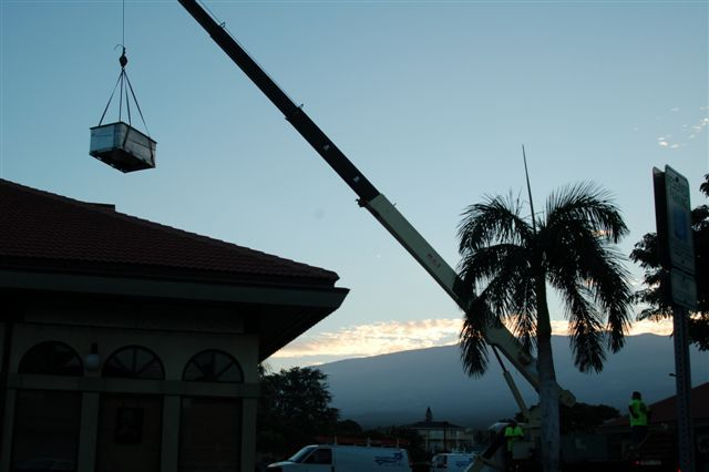 One of our HVAC contractors at work in Makawao, HI