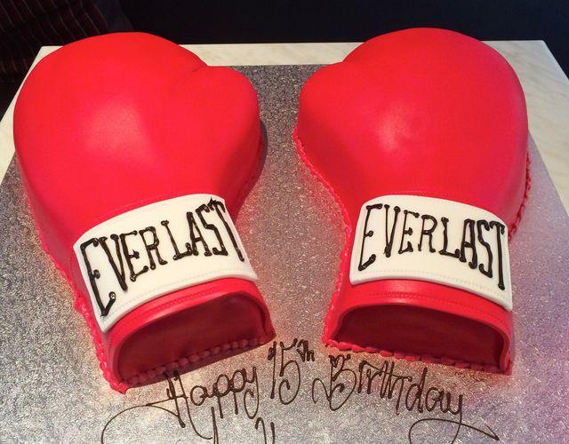 boxing gloves cake
