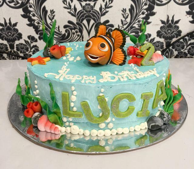 custom finding nemo birthday cake