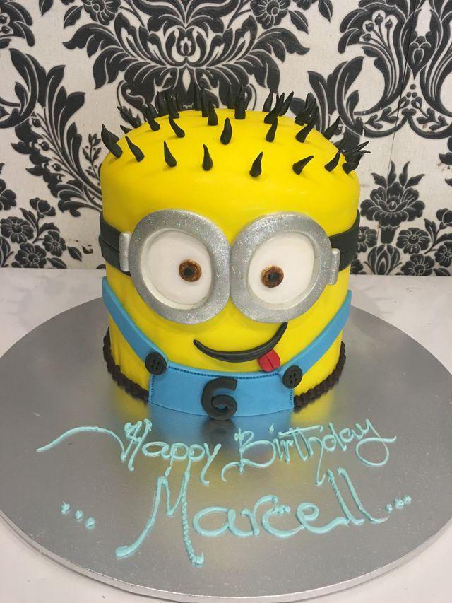 very colourful sections circular custom cake