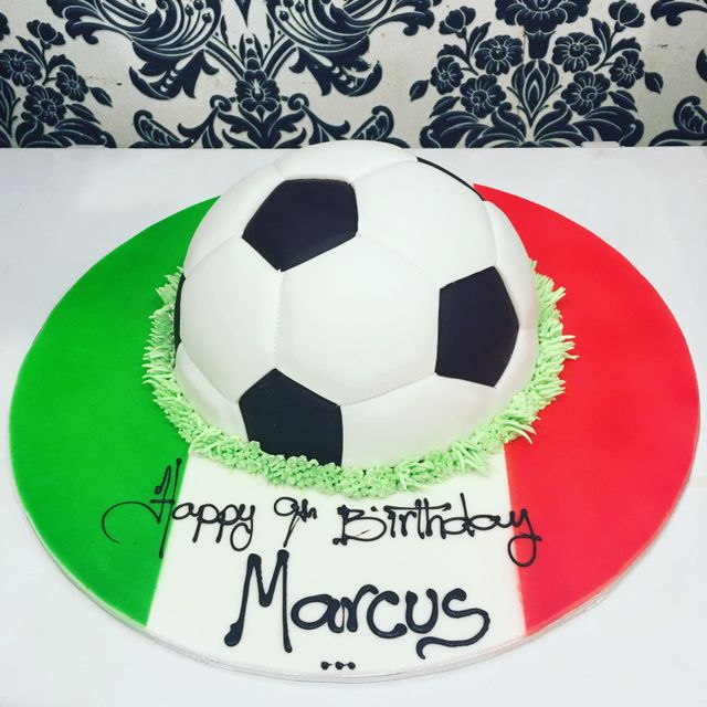 very colourful custom cake