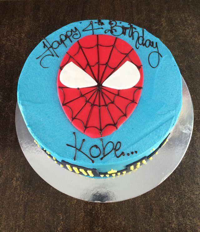 custom spiderman birthday cake
