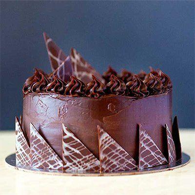 2 layers whipped chocolate ganache