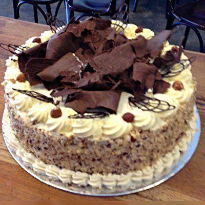 Hazelnut gateau with chocolate