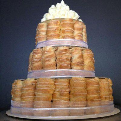 Wedding cake tower of custard horns