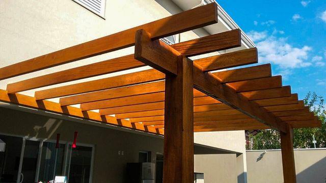 Pergolados de madeira varanda projeto aruã madeireira campinas barão geraldo