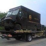 Towing a UPS van