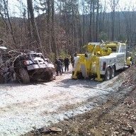 Recovering a crashed truck