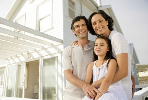 Family happy with professional painting services in Hamilton