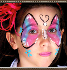 Fantasy Butterfly Face Paint