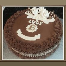 Chocolate buttercream 16th Birthday Cake