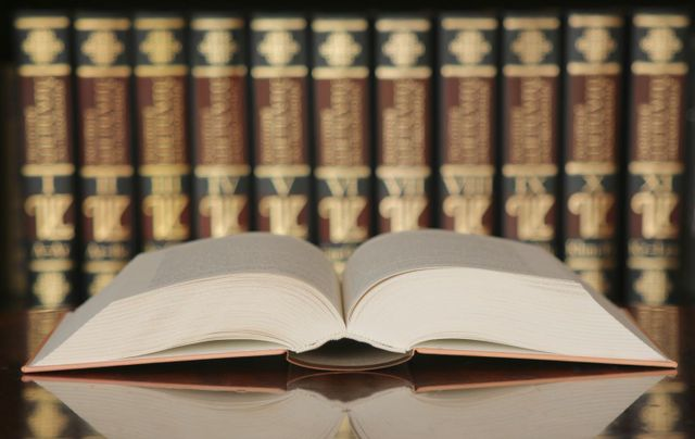 Law books at our legal firm in Harrison, AR