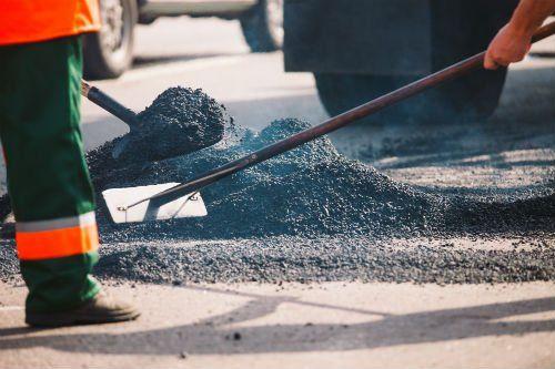 dei lavori di asfaltazione