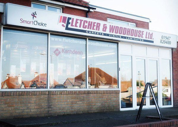 Flooring specialist installing floor