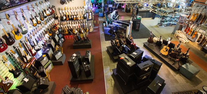 Interior of Salop Music Centre