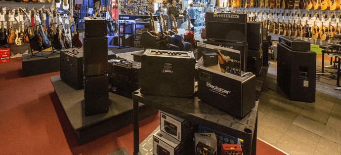 Range of guitar amps