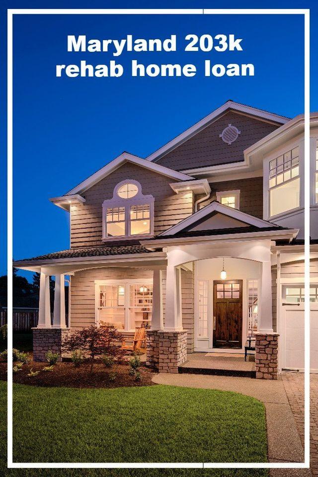 MarylandLending 48k Rehab Loan Remodel Home Loan Adorable Remodel Home Loan Set