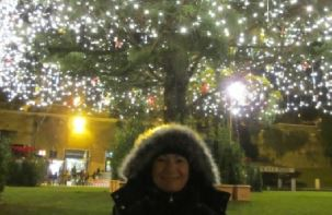 Christmas lights in Rome