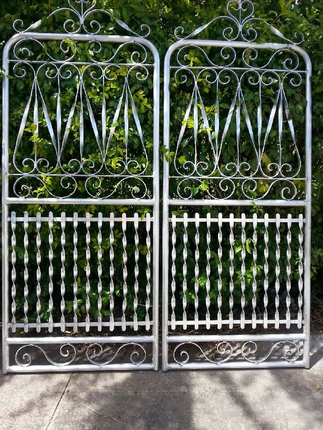 Wrought iron manufactured gate