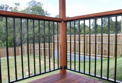 balustrades around a patio