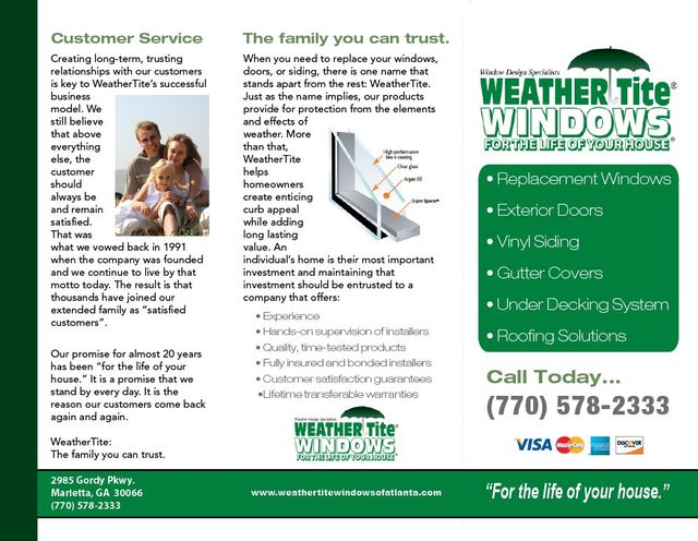 Custom trifold brochure design and printing Gwinnett Georgia