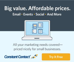 Constant contact media banner for email, events, social