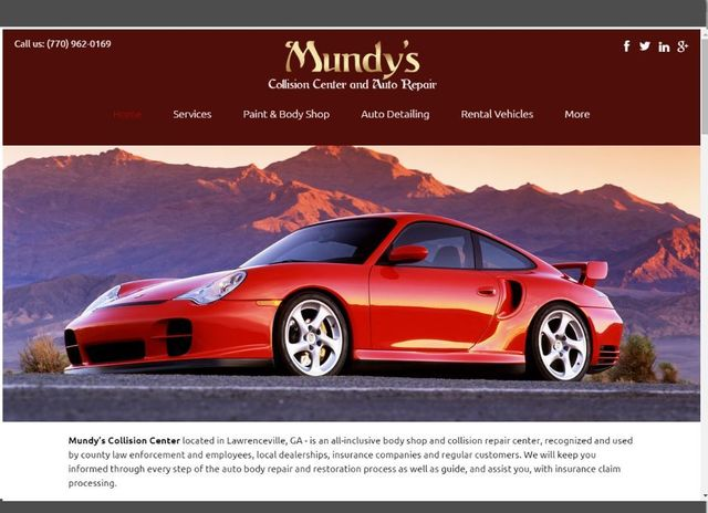 Desktop, tablet, and mobile preview of Mundys Collision Center – Lawrenceville Georgia