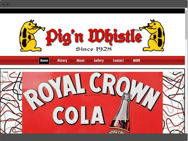 Desktop, tablet, and mobile website preview for the Pig'n Whistle Restaurant