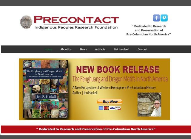 Desktop, tablet, and mobile preview of precontact.org archaeology website
