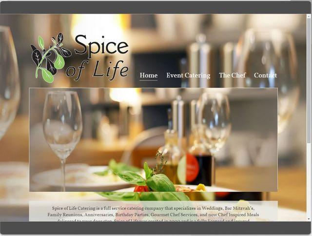 ering Responsive fluid design preview of Catering website in Gwinnett