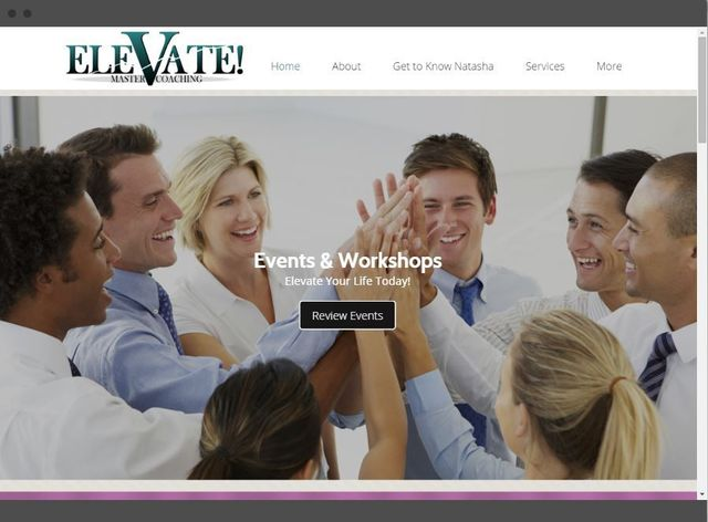 Desktop, tablet, and mobile website preview for Elevate Master Coaching, Lawrenceville Georgia