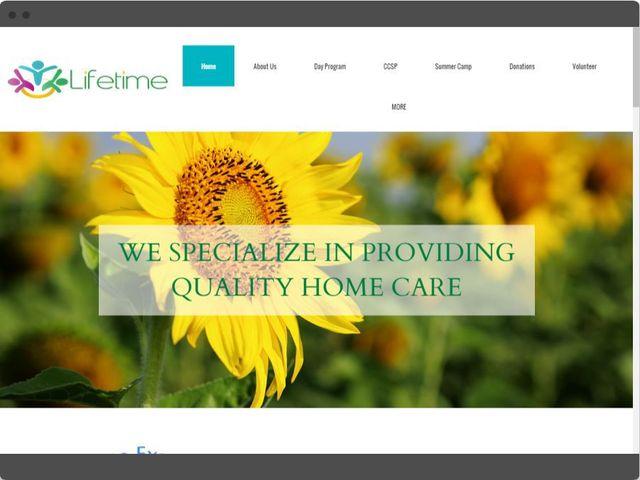 Multi-screen web design preview for lifetime PCH website