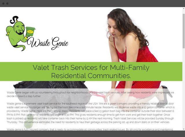 Waste Genie Trash Valet Services Desktop, tablet, and mobile preview