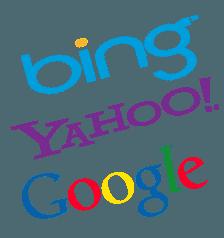 Major Search Engines- Google, Yahoo, BING
