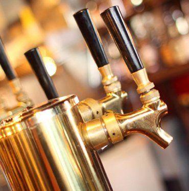 Beer taps at bistro in Clydevale