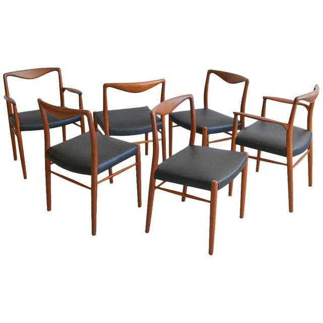 Set of Six Kai Lyngfeldt Larsen for Søren Willadsen Dining Chairs