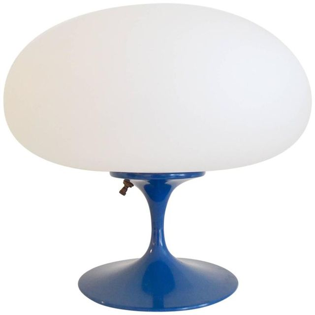 Blue Laurel Mushroom Lamp by Bill Curry