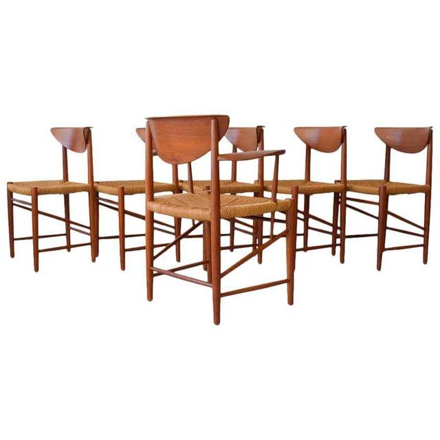 Peter Hvidt & Orla Mølgaard Nielsen Sculpted Teak Dining Chairs