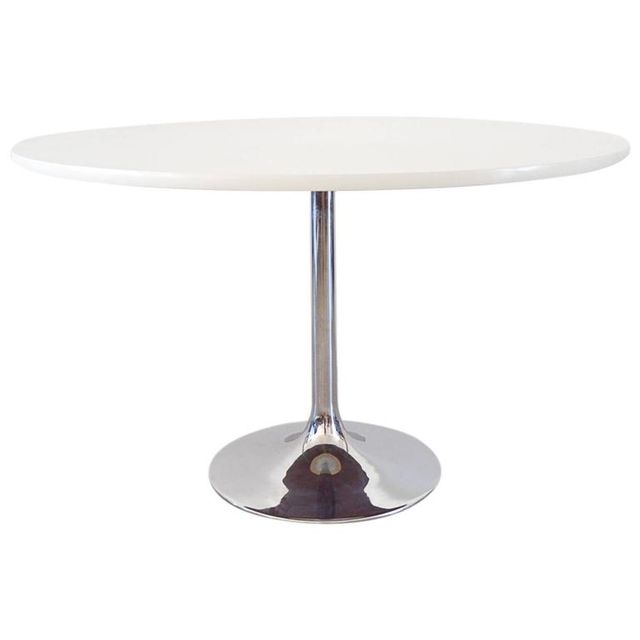 White Tulip Dining Table by Borge Johanson