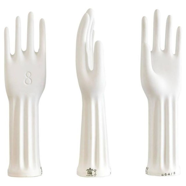 Set of Three Porcelain Glove Forms by Rosenthal