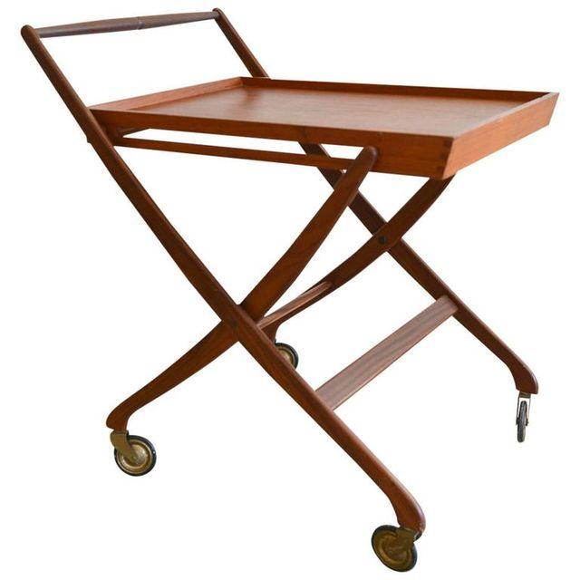 Danish Teak Folding Serving Cart